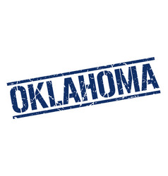 Oklahoma blue square stamp vector