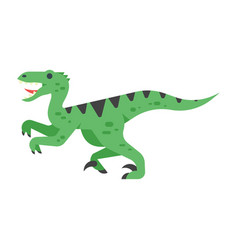 prehistoric animal - velociraptor vector image