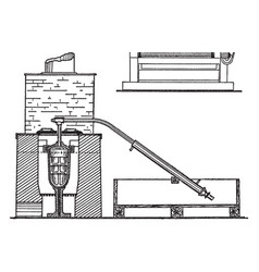 retort furnace for gold bullion vintage vector image