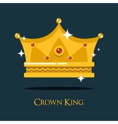Royal crown for king or princess queen gold tiara vector