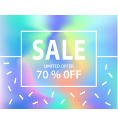 Sale banner template for shopping vector