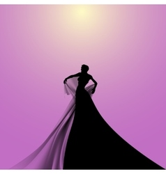 Silhouette of Opera Singer vector image