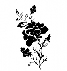 vertical flower pattern rose tattoo vector image vector image