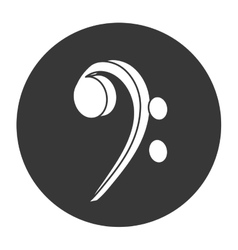 Bass clef musical note icon vector