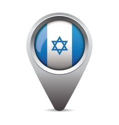 Israel flag pointer vector