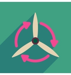 Flat web icon with long shadow windmill vector