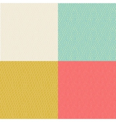 Set of colored wavy curly seamless textures vector