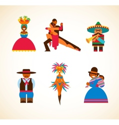 South american people - concept vector