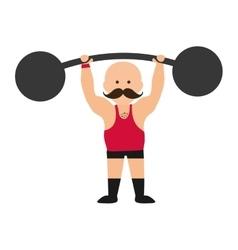 strongman circus cartoon vector image