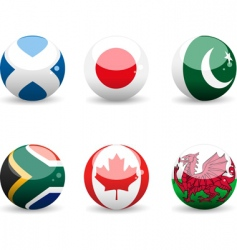 flag spheres vector image