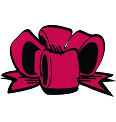 Birthday bow vector image