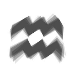 Aquarius sign   gray icon vector