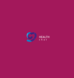Bright logo on medicine and health vector