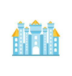 light blue fairytale royal castle or palace vector image