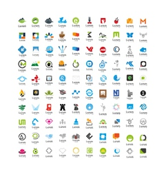 Usable business icons set set of 100 icons vector