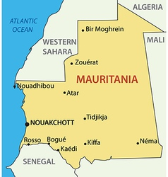 Islamic republic of mauritania - map vector