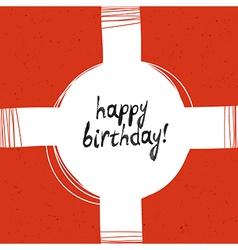 Packaging happy birthday vector