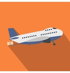 Passenger airplane flat vector