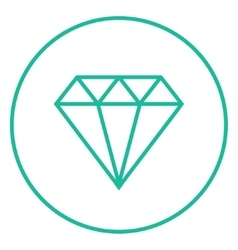 Diamond line icon vector