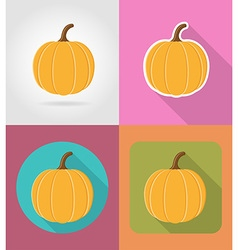 vegetables flat icons 05 vector image