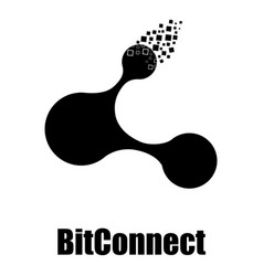 Bitconnect icon simple style vector
