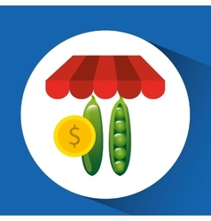 Buying online peas icon vector