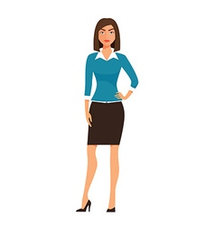 Cartoon business Woman Character isolated on white vector image vector image