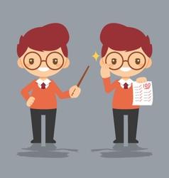 Cartoon male teacher eps10 vector