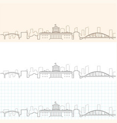 Columbus hand drawn skyline vector
