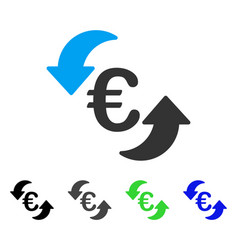 Euro update arrows flat icon vector