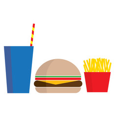 fast food meal vector image vector image