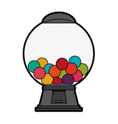 Gum balls dispenser candy icon image vector