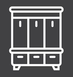 Hallway closet line icon furniture and interior vector