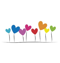 heartss vector image