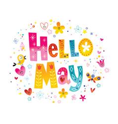 Hello may vector