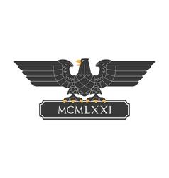 Heraldic eagle 20 vector image vector image