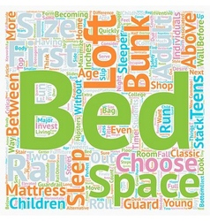 How to buy a loft bed bunk bed text background vector