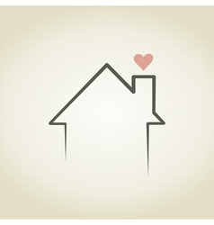 Love the house vector image