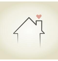 Love the house vector