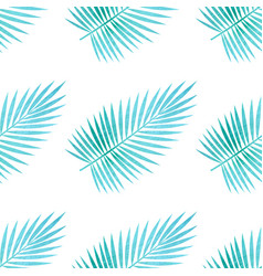 Pattern with palm leaves vector