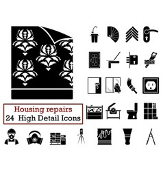 Set of 24 Housing repairs Icons vector image vector image