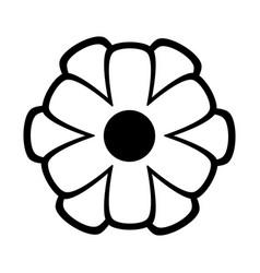 Simple cartoon flower icon image vector