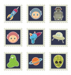 space stamps vector image vector image