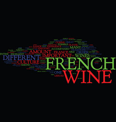 The excellent french wine text background word vector