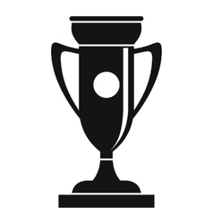 Winning cup icon simple style vector