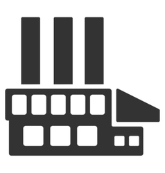 Industrial building flat icon vector