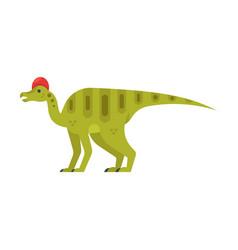 Prehistoric animal - corythosaurus vector