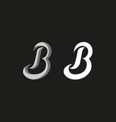 Capital letter b logo in graffiti style set vector