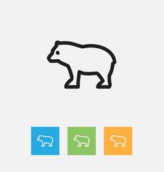 Of zoology symbol on predator vector