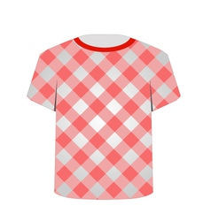 T shirt template- gingham pattern vector